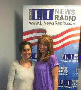 Justine and host Allison Brecher