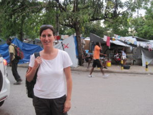 Davidson in Haiti after the 2010 earthquake.
