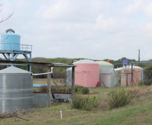 A picture Romero took of Tank Town, one of the rainwater harvesting tank manufacturers and consultants in the Austin area.