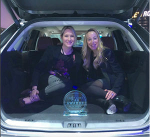 Mechanical Engineer Rachel Rothman at the International Detroit Auto Show, with Good Housekeeping's Editor-in-Chief, Jane Francisco