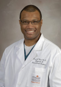 Bioengineer and Interventional Radiologist Derek West.Photo by Dwight C. Andrews / The University of Texas Medical School at Houston, Office of Communications.